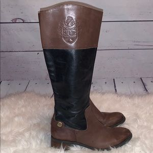 Etienne Aigner Two Tone Riding Boots 7.5